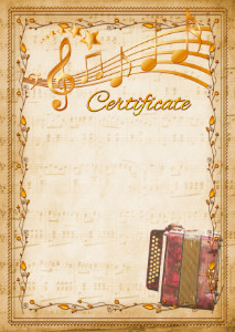 The Certificate template «Harmonic»