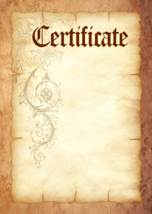 Certificate template «Durable parchment»