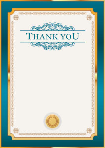 Thank You Card template «Petrol in gold»