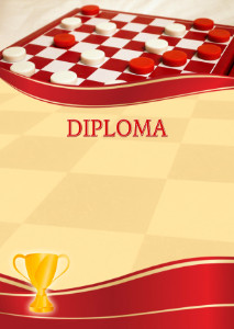 Diploma template «Checkers»
