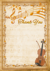 The Thank You Card template «Violin»