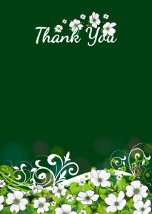 The Thank You Card template «Summer holiday»