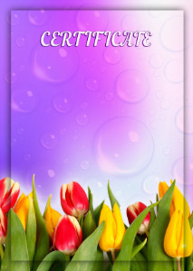 Certificate template «Spring»