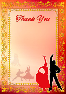 Thank You Card template «Dance»