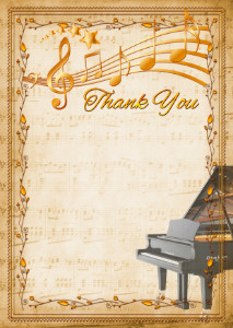 Thank You Card template «Piano»