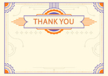 Thank You Card template «Amber»