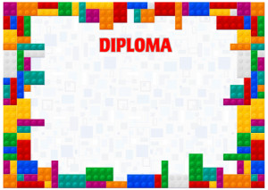 Diploma template «Colors of childhood»