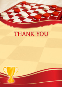 The Thank You Card template «Checkers»