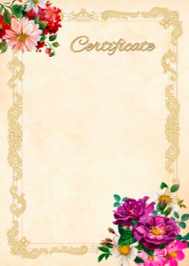 Certificate template «Summer smell»