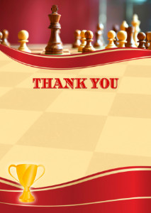 Thank You Card template «Chess»