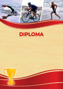 Diploma template «Triathlon»