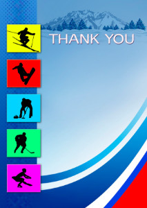 Thank You Card template «Winter sports»