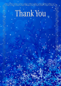 The Thank You Card template «Winter»