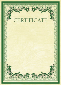 Certificate template «Vintage patterns»