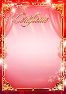 Certificate template «Holiday lights»