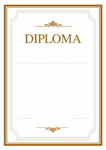 Diploma template «Open space»