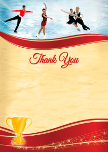 Thank You Card template «Figure skating»