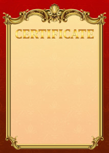 Certificate template «Empire»