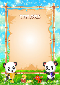 Diploma template «First award»