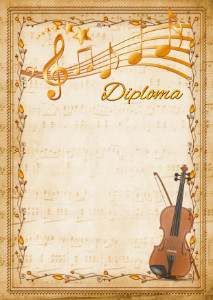The Diploma template «Violin»