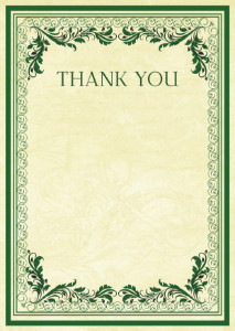 Thank You Card template «Vintage patterns»
