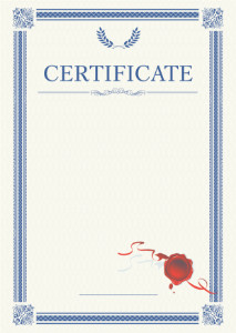 Certificate template «Laurel»