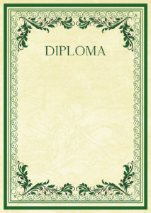 Diploma template «Vintage patterns»