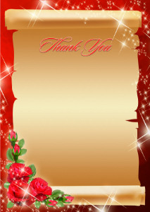 Thank You Card template «Feast»