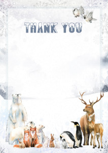 Thank You Card template «Northern edges»