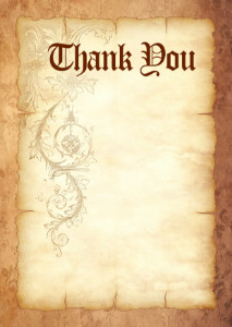 Thank You Card template «Durable parchment»