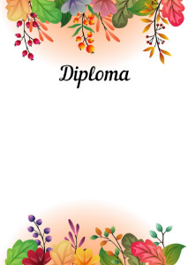 Diploma template «Autumn fairy tale»
