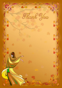 The Thank You Card template «Autumn time»