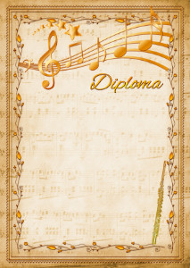 Diploma template «Flute»
