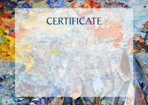 Certificate template «Artist's Oil Colours»