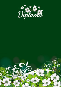 Diploma template «Summer holiday»