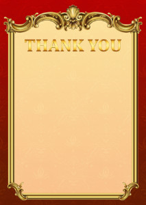 Thank You Card template «Empire»