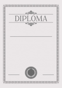 Diploma template «In gray tones»