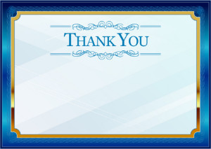 Thank You Card template «Blue in gold»