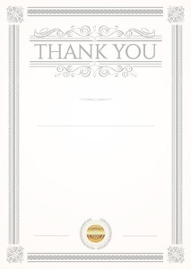 Thank You Card template «Etude»