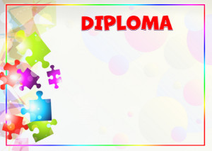 Diploma template «Kaleidoscope of colors»