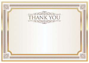 Thank You Card template «Shine»