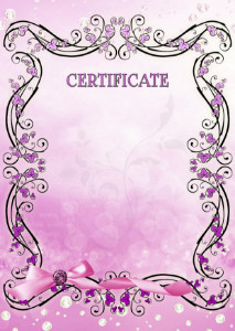 Certificate template «Lilac vintage»