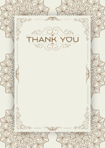 Thank You Card template «Vintage summer»