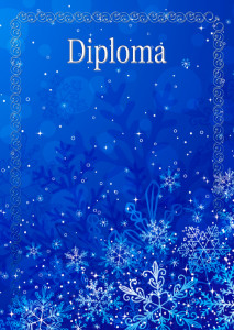 Diploma template «Winter»
