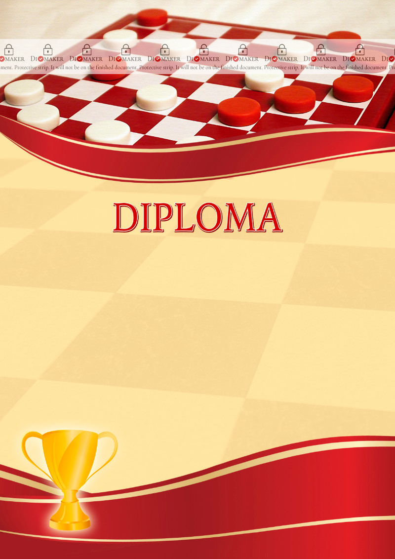 The Diploma template «Checkers»