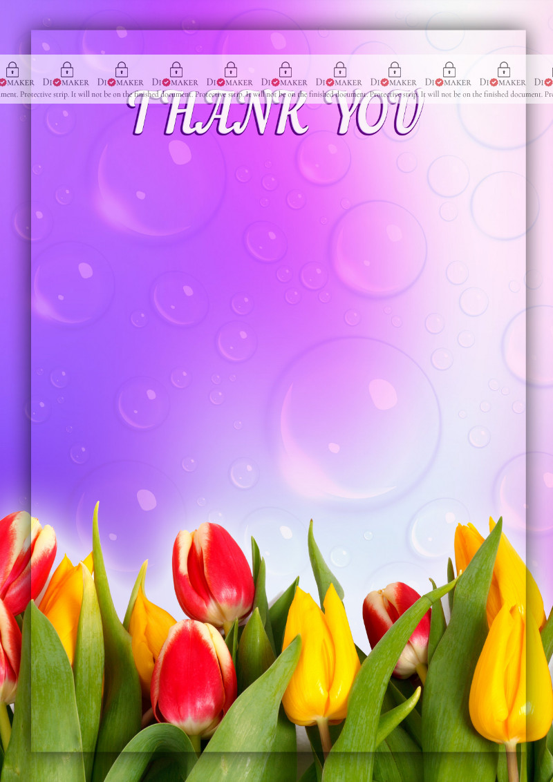 Thank You Card template «Spring»