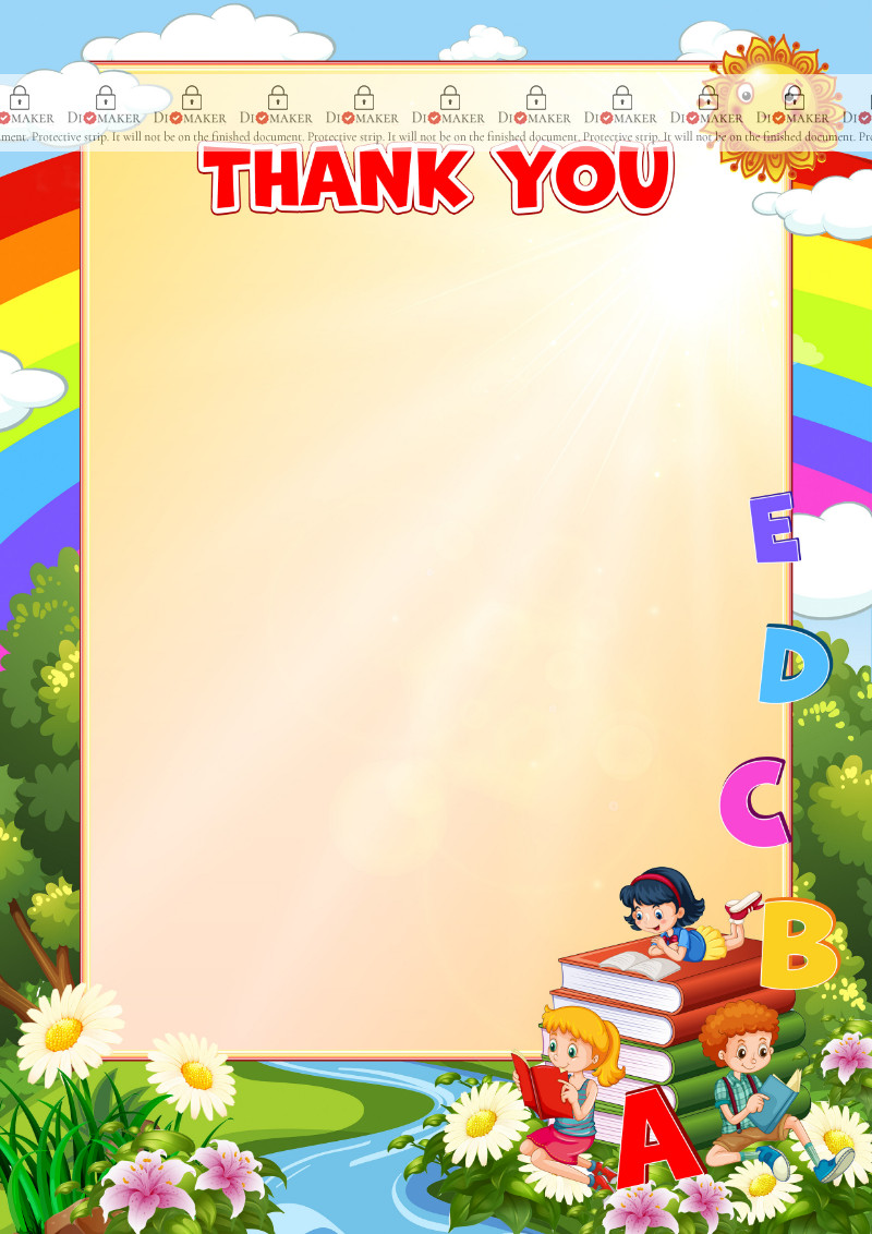 Thank You Card template «English language»