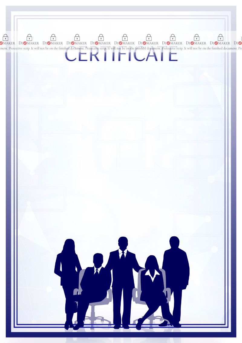 Certificate template «Office»