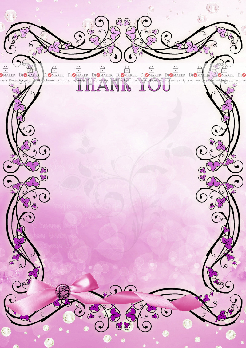 Thank You Card template «Lilac vintage»