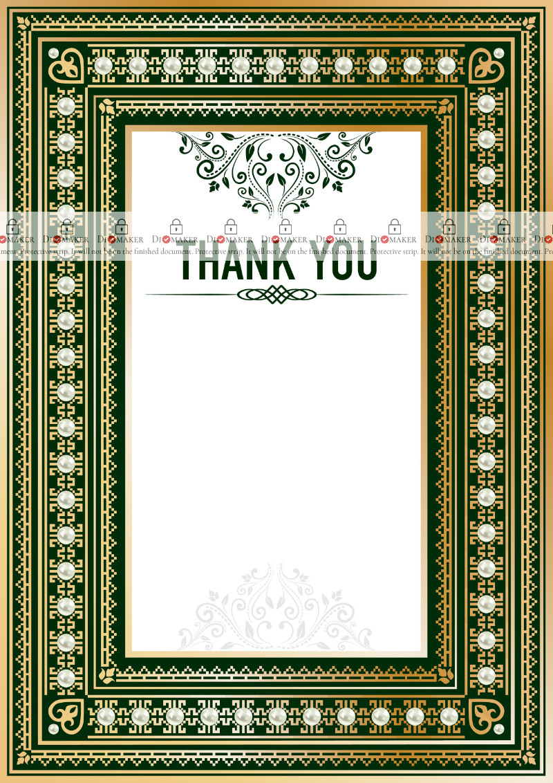 Thank You Card template «Renaissance»